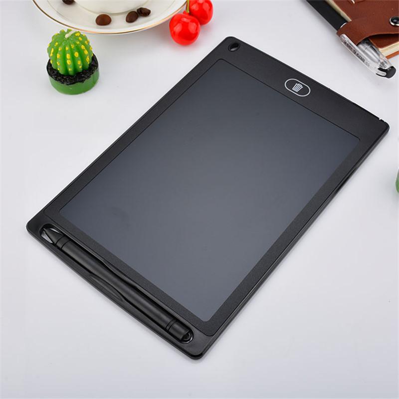 Tablette graphique couleur noir, écran LCD, 8.5 pouces - Tablette dessin et écriture pour enfants