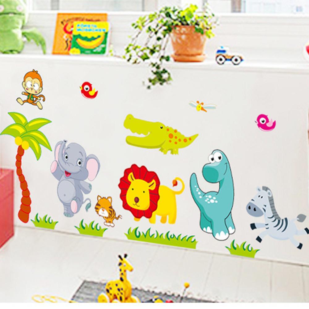 Deco Jungle Chambre Enfant stickers muraux animaux chambre bébé - autocollant amovible