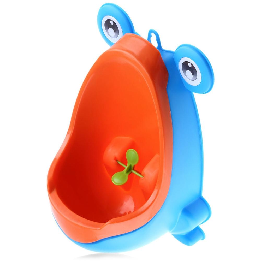 Urinoir rigolo pour bébé garçon orange et bleu