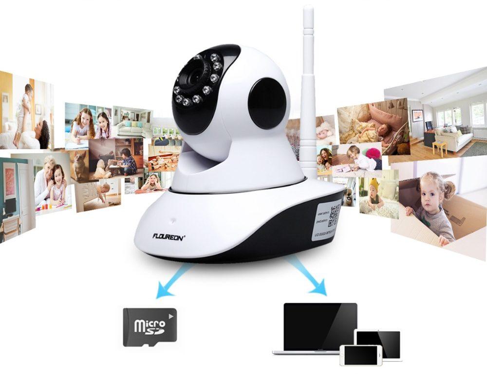 SD Card Caméra sans fil surveillance bébé - enregistrer photos et vidéos