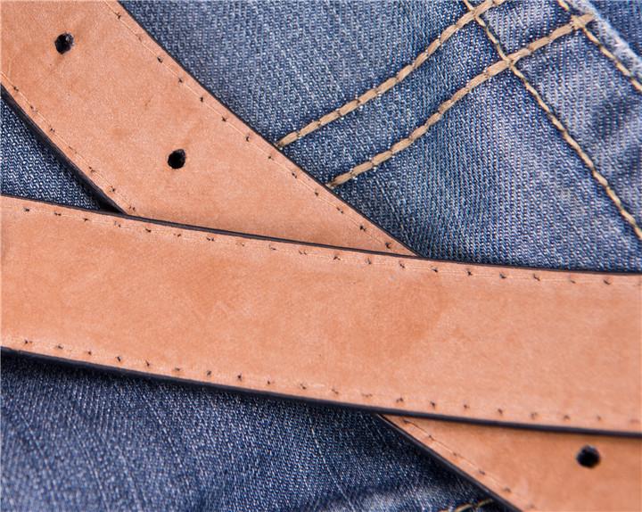 Matière cuir pu des ceintures pour garçons
