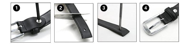 Comment couper la ceinture si elle est trop grande