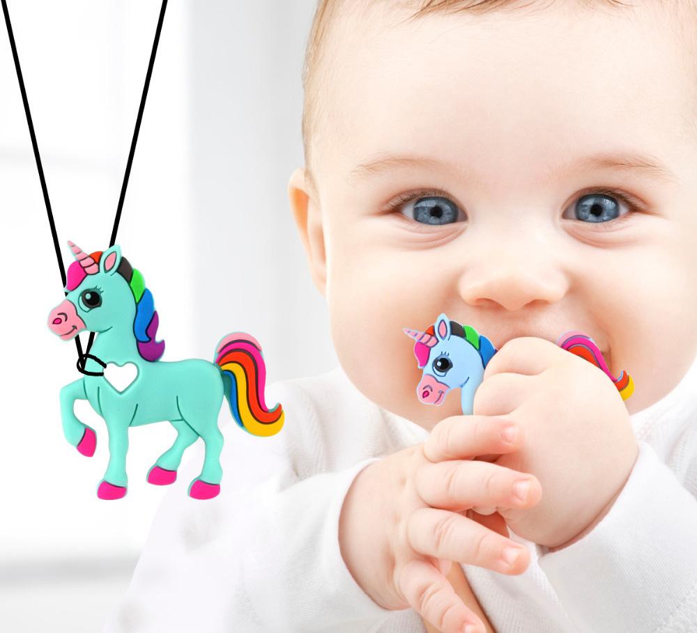 Licorne en silicone pour calmer la douleur des gencives de bébé