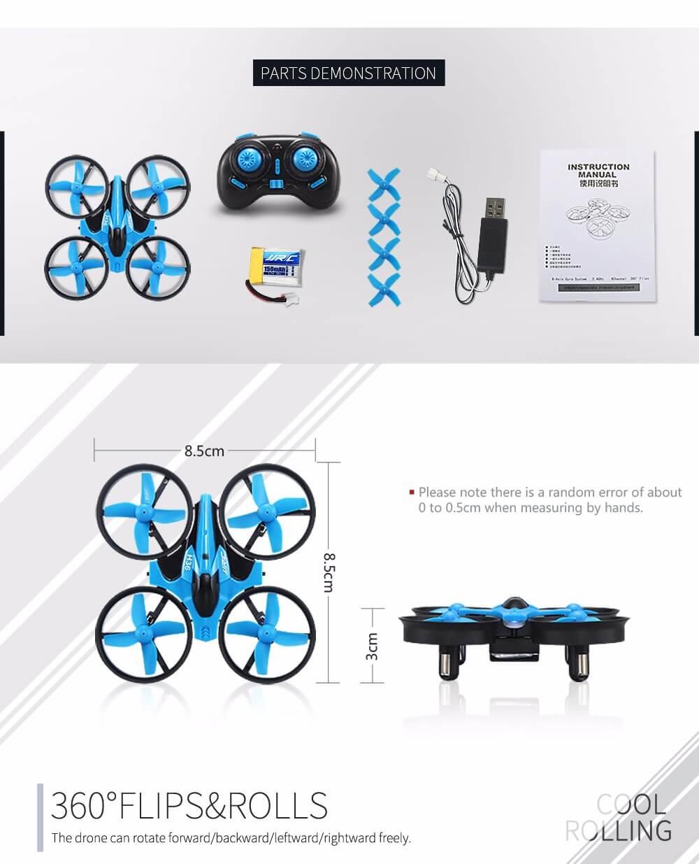 Mini drone pas cher avec ses accessoires