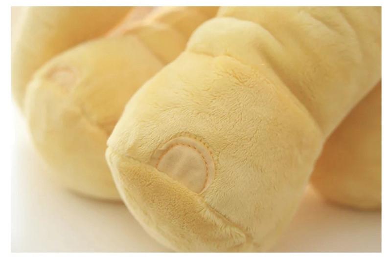Peluche éléphant jaune - pattes de l'éléphant
