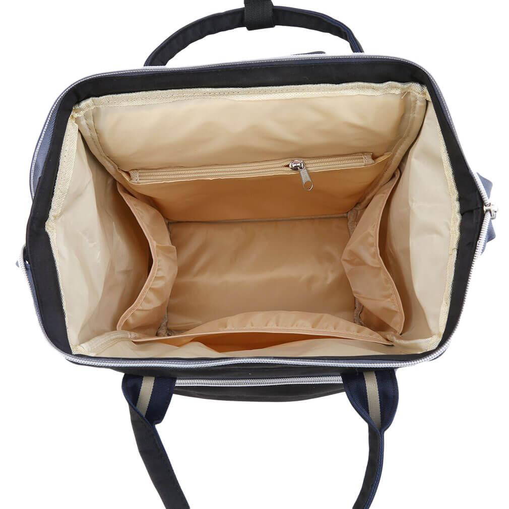 Intérieur du sac à langer noir