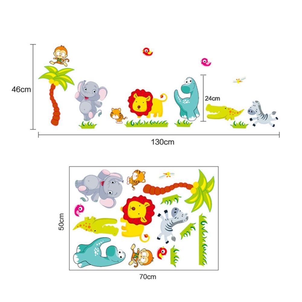 Dimensions des stickers muraux pour décorer la chambre de bébé