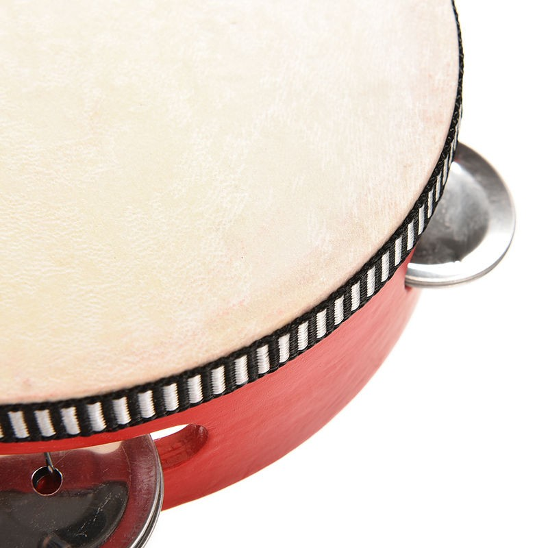 Tambourin rouge pour faire de la musique