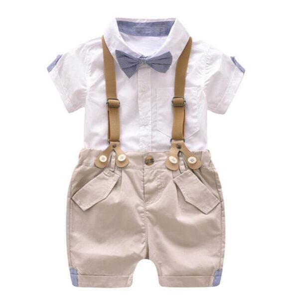 Ensemble d'été bébé garçon - Costume short et chemise - Taille 1 à 4 ans
