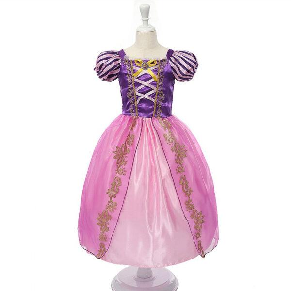 Robe déguisement Raiponce pour enfant