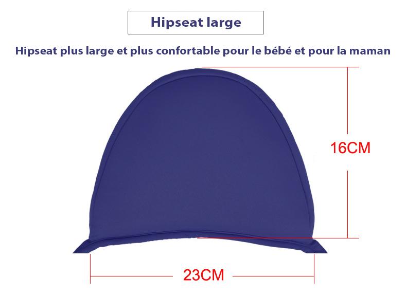 Dimensions du Porte-bébé hipseat