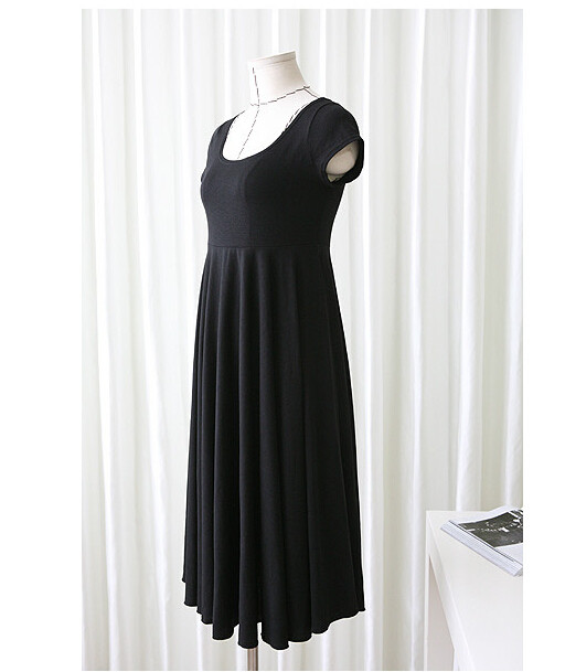 Robe d'été noire grossesse