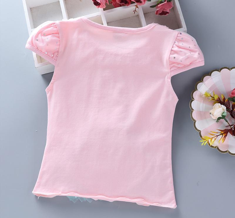 T-shirt rose Elsa vue de dos