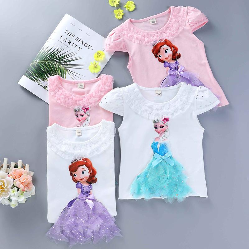 T-shirt original Elsa ou Princesse Sofia motifs en relief