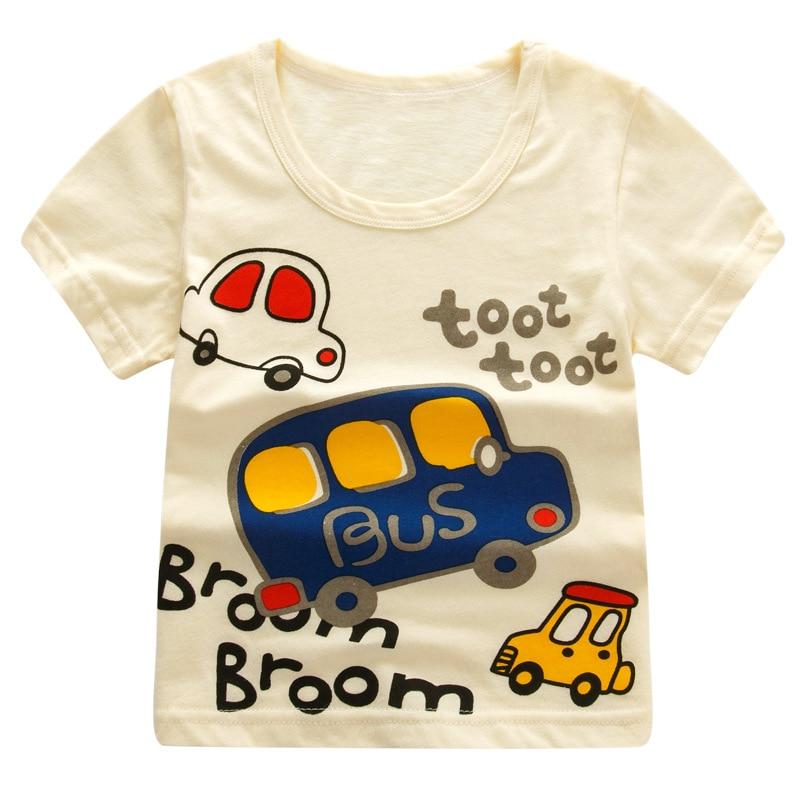 T-shirt jaune enfant garçon Bus