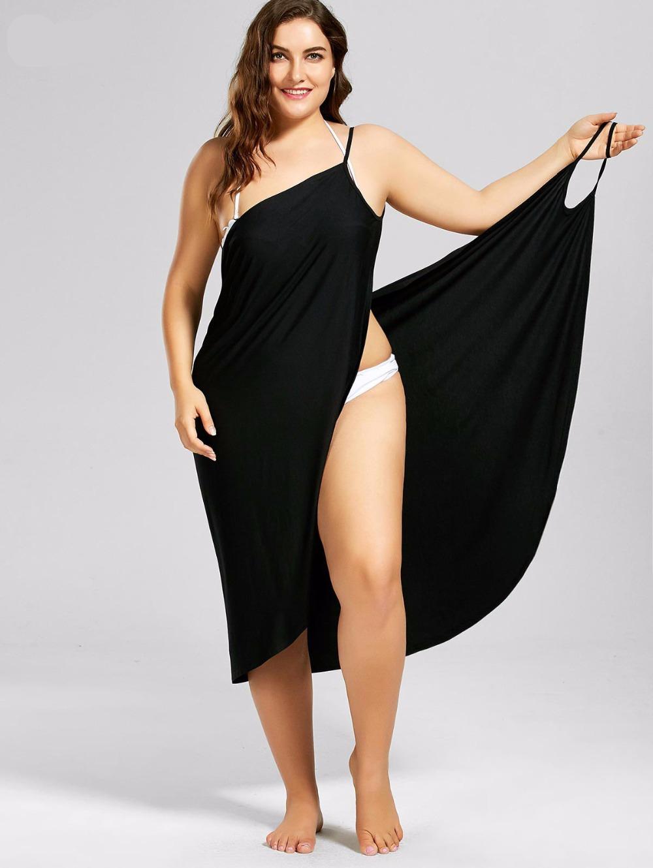 Robe décontractée grande taille - couleur noir