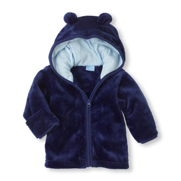 Veste bleue pour bébé garçon en velours