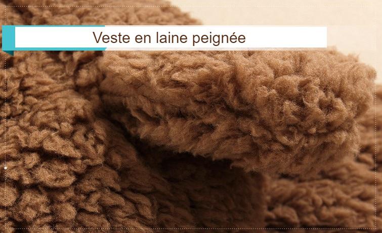 Veste hiver pour bébé en laine peignée