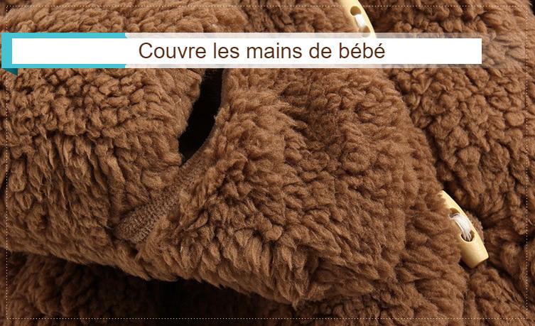 Veste hiver pour bébé - couvre les mains de bébé