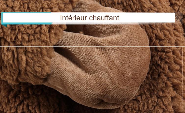 Veste bébé ours hiver - intérieur chauffant