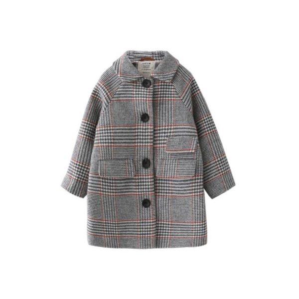 Manteau style british, élégant, pour enfant fille de 3 à 7 ans