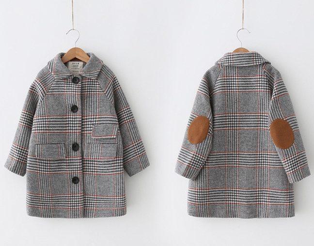Manteau élégant british pour fille - devant et derrière