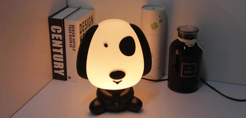 Veilleuse LAMPY - Chien noir et blanc