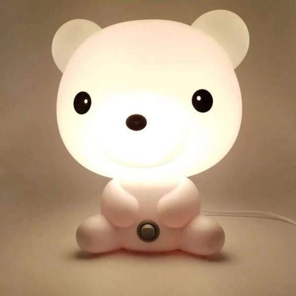 Veilleuse ourson blanc pour chambre enfant