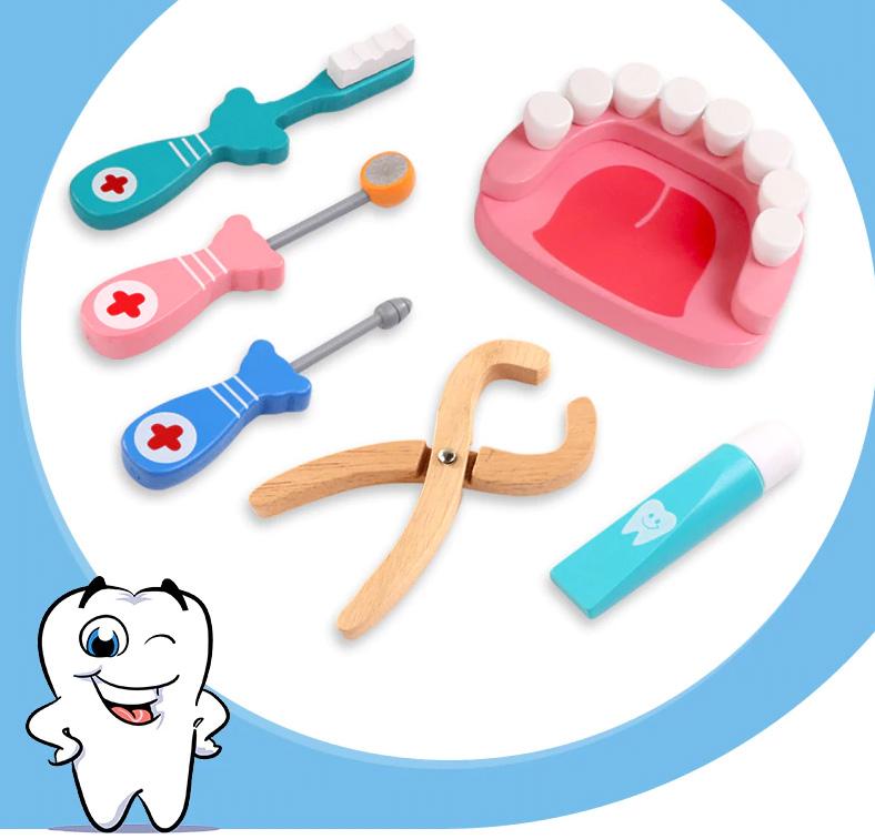 Jouets en bois dentiste