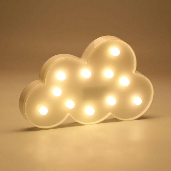 Veilleuse murale LED en forme de nuage
