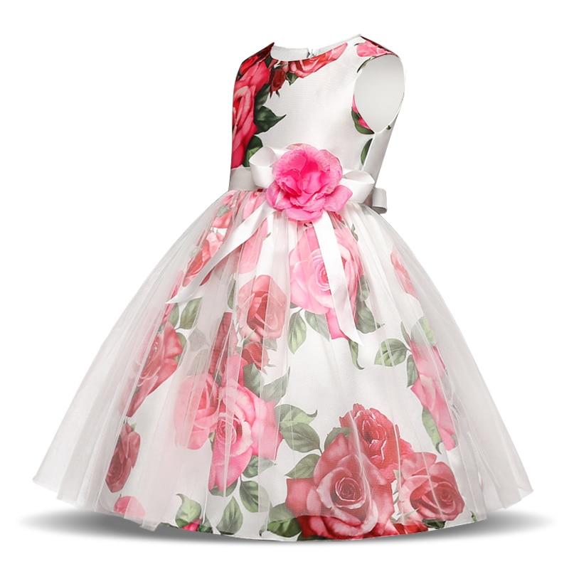 Robe de cérémonie pour fille avec roses