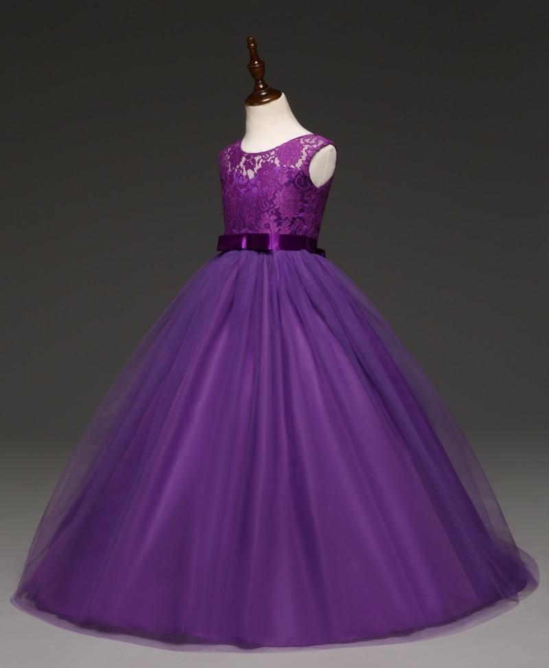 Robe longue demoiselle d'honneur - couleur violet