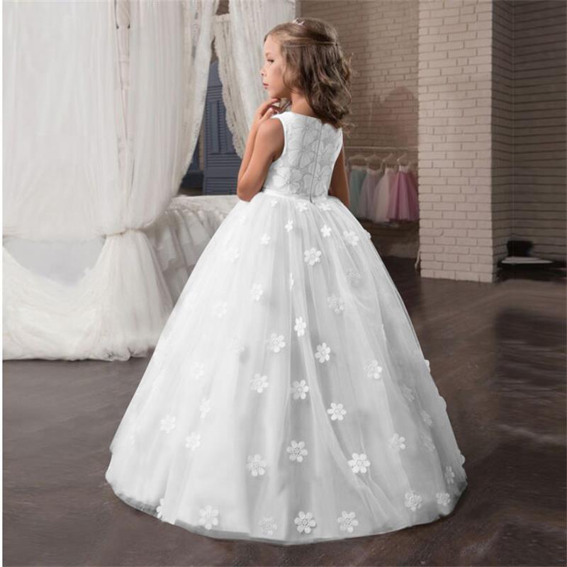 Robe blanche longue demoiselle d'honneur