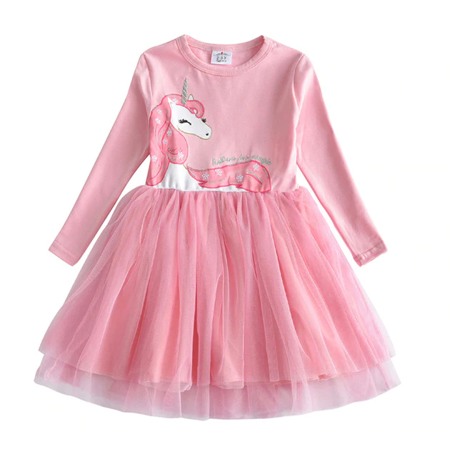 Robe fille 2 à 8 ans - Anniversaire - Broderie Licorne, Papillons, Animaux