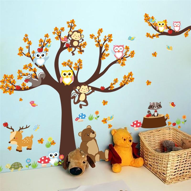 Sticker mural chambre enfant / bébé - Animaux de la forêt