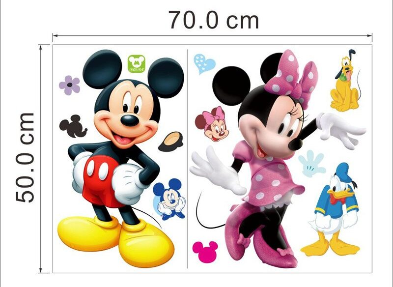 Stickers muraux de qualité Disney avec Mickey, Minnie, Donald, Pluto