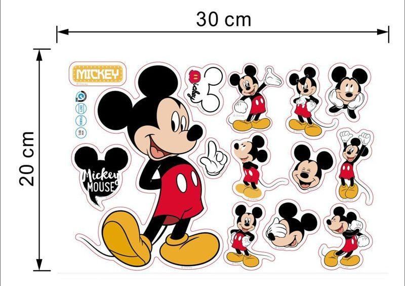 Stickers muraux Mickey Mouse pour décorer chambre enfant bébé