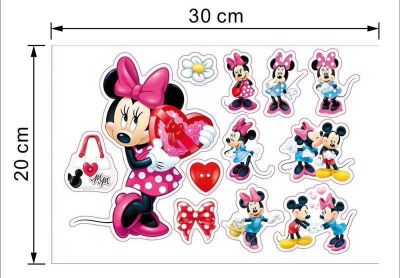 Sticker mural Disney : Minnie, déco chambre fille