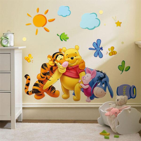 Sticker mural décoratif Winnie l'Ourson pour chambre enfant bébé