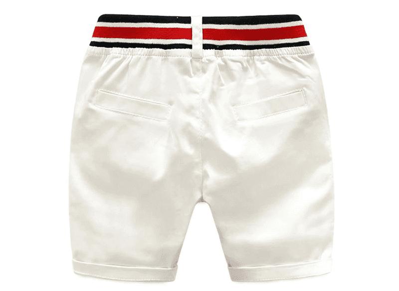 Bermuda blanc pour garçon - Vue de dos