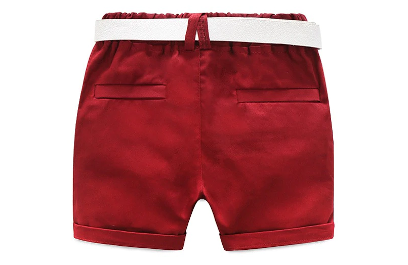 Bermuda garçon rouge - Vue de derrière