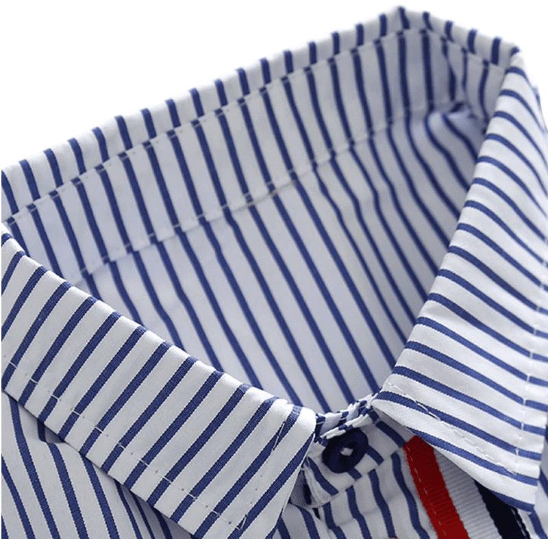 Chemise rayures bleues pour garçon