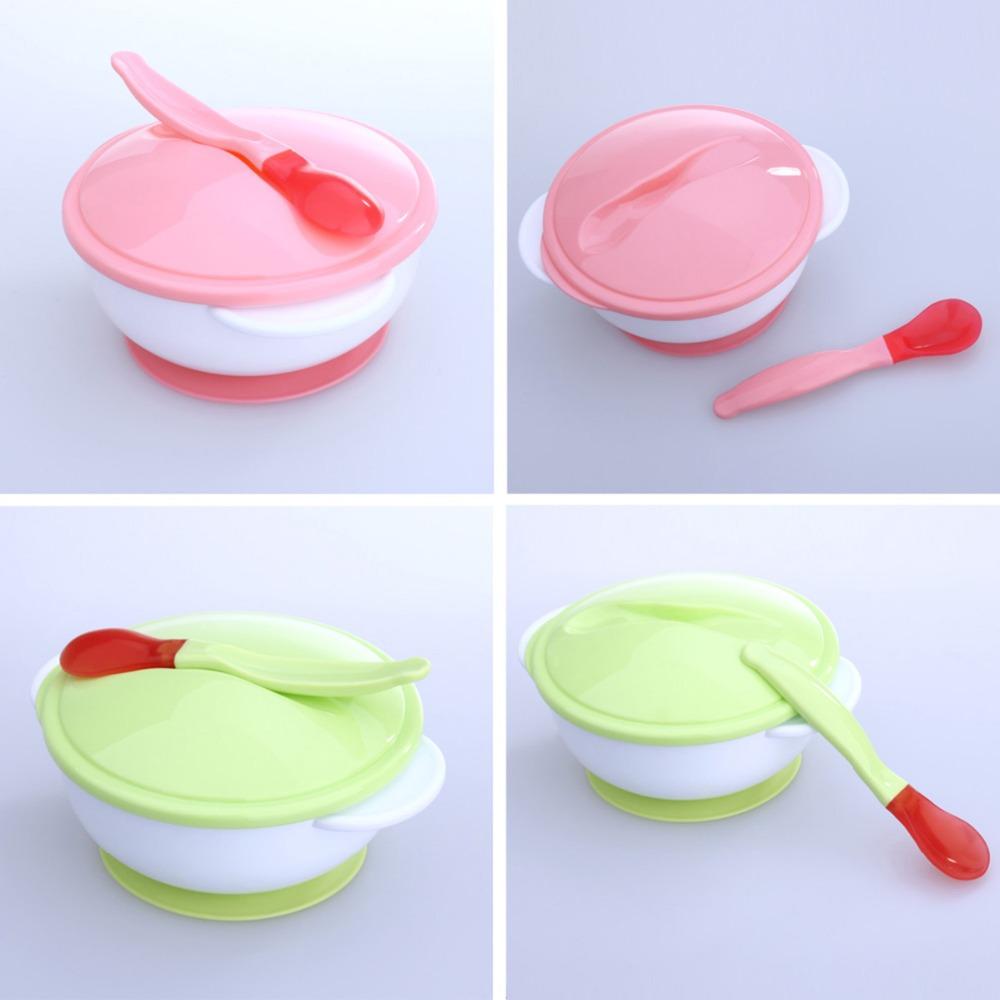 Assiette bébé ventouse couleur rose ou vert