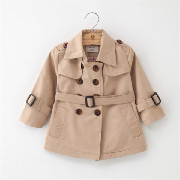Trench-coat enfant - manteau mi-saison couleur beige