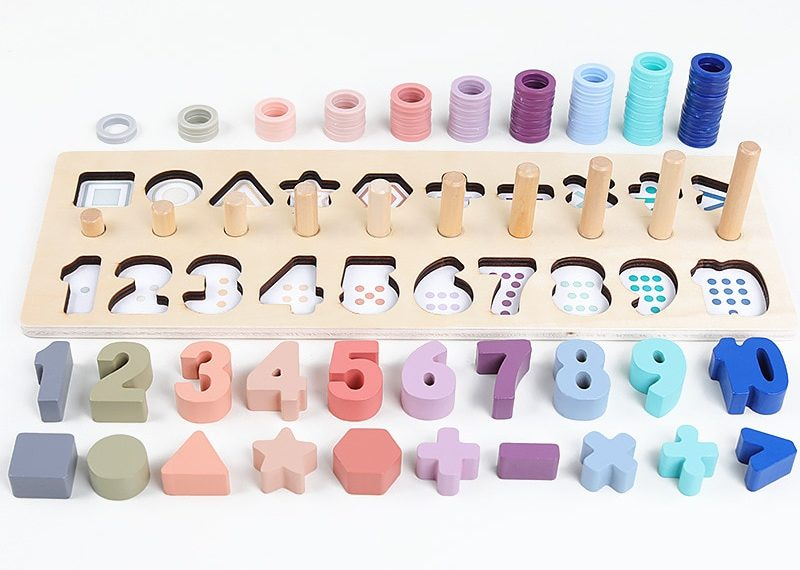 Wooden Montessori game - Learn to count