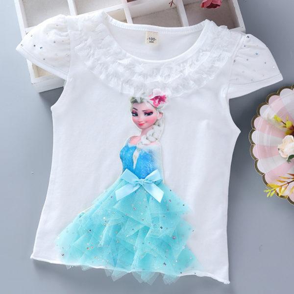 T-shirt Elsa Reine des Neige avec robe 3D