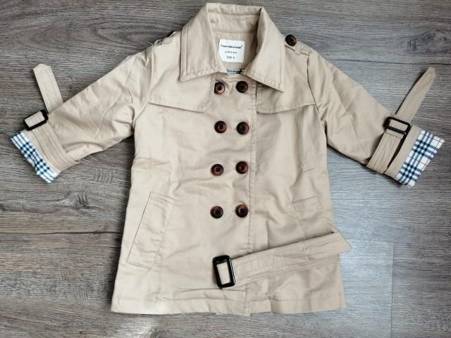 Trench-coat enfant - veste mi-saison couleur sable