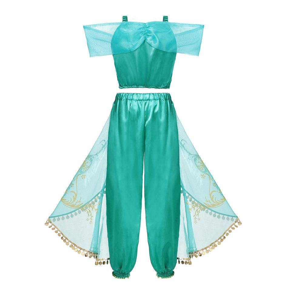 Costume de Jasmine pour fille vu de dos