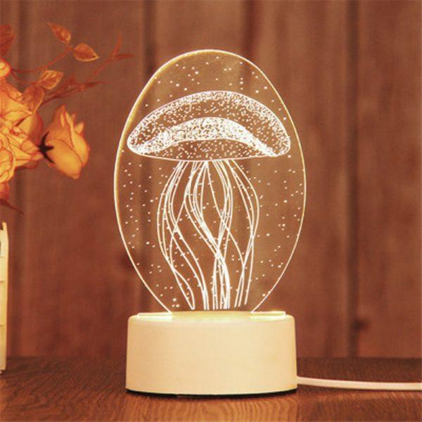 Veilleuse LED design pour chambre enfant - Thème méduse