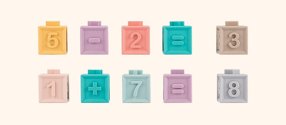 Cubes à empiler chiffres calculs pour bébé